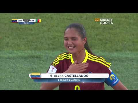 Gol de Deyna Castellanos de media cancha. Venezuela - Camerun Mundial Sub17 2016 Jordania