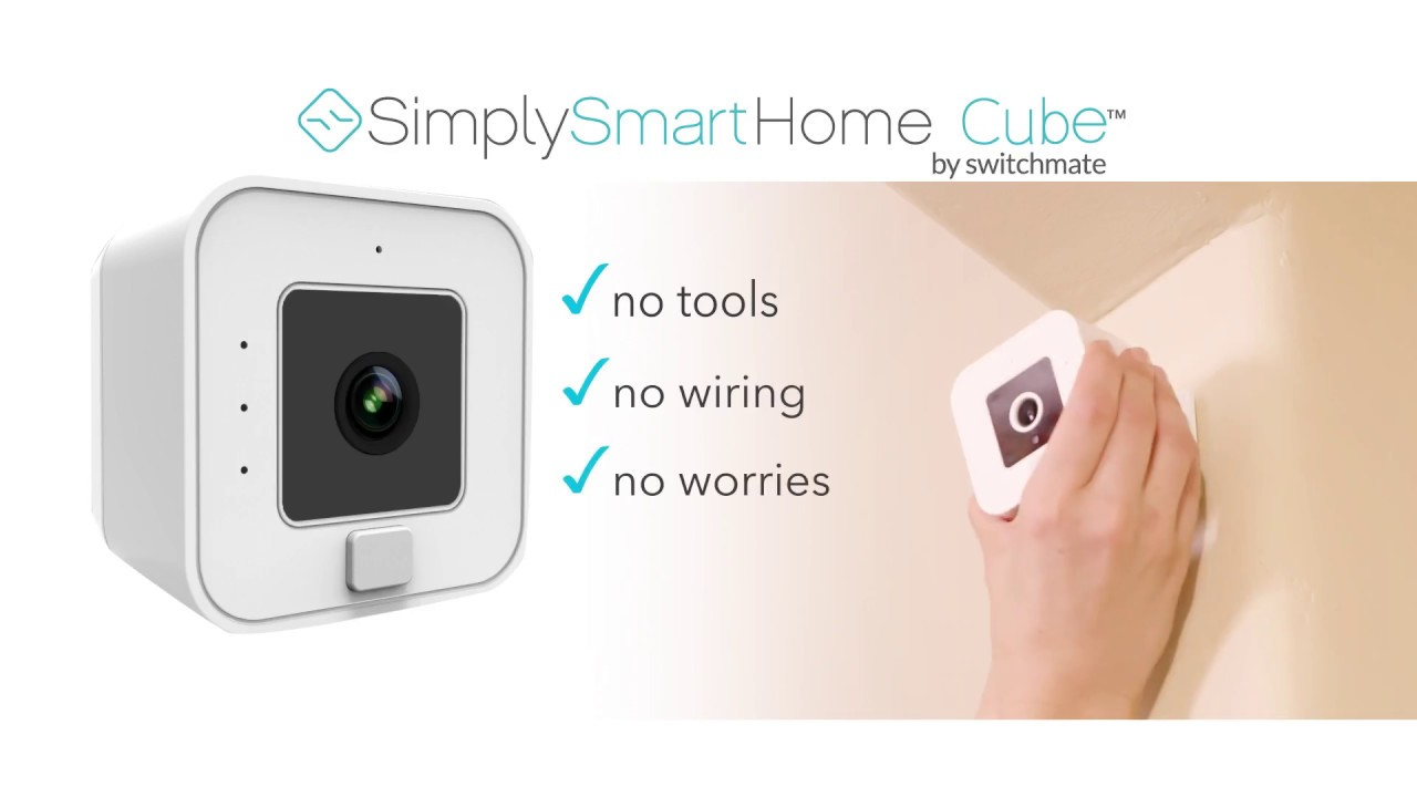 simply smart home cube wireless security camera youtube. Black Bedroom Furniture Sets. Home Design Ideas