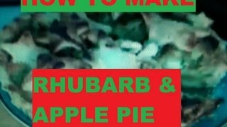 How To Make Rhubarb And Apple Pie: Rhubarb Recipe