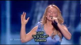 Eurovision Iceland 1990-2012 Entries Recap