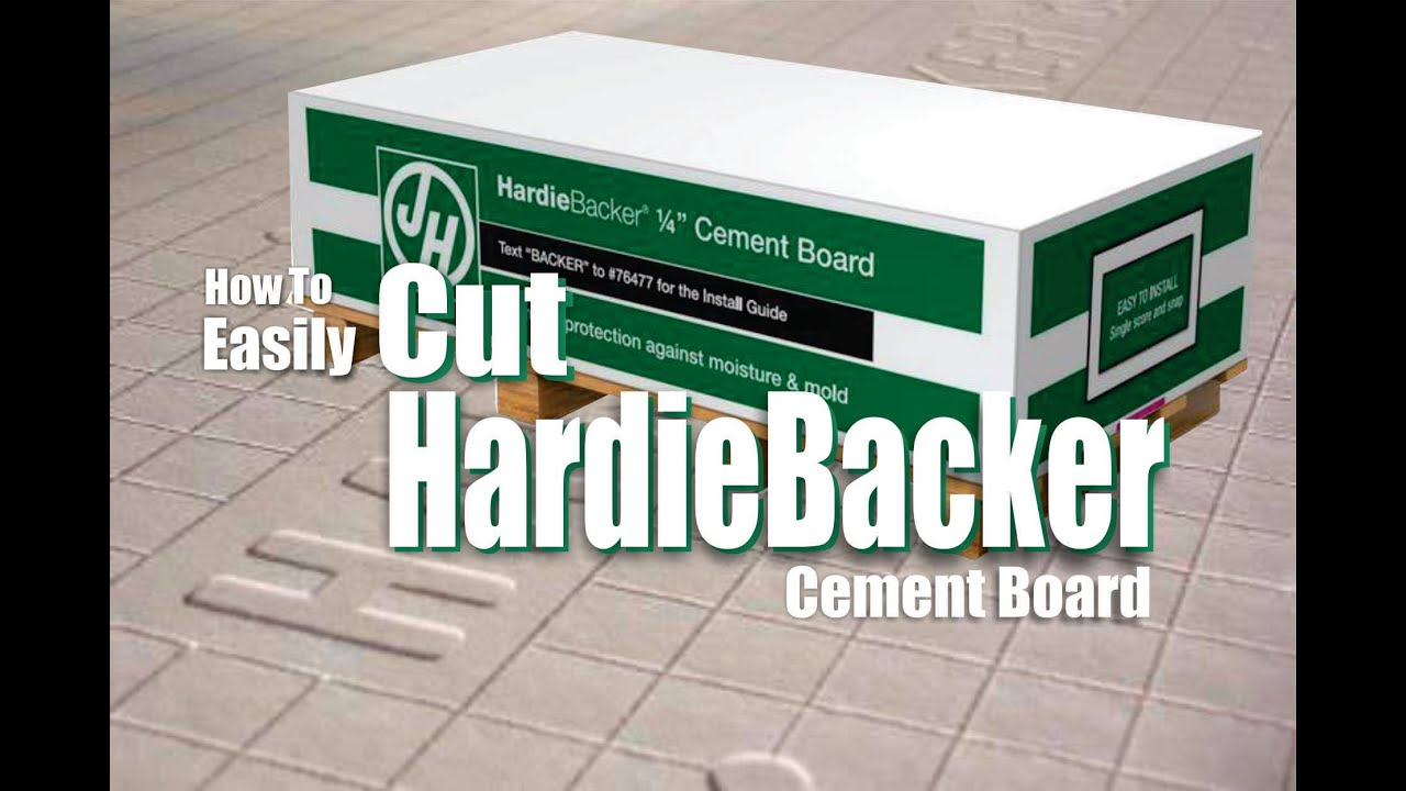 How to Easily Cut Hardiebacker Cement Board DIY - YouTube