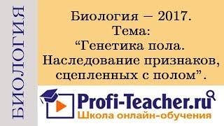 Биология. Генетика пола. Наследование признаков, сцепленных с полом. Profi-Teacher.ru