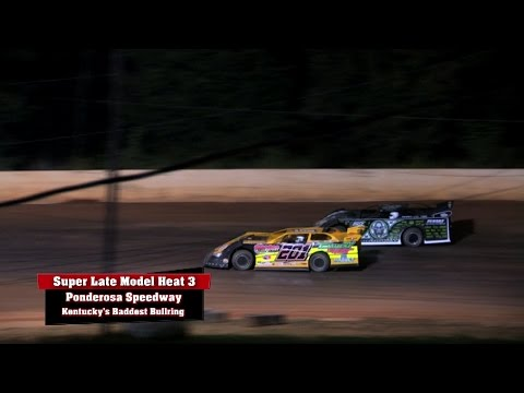 Ultimate Series Heat 3 & 4 at Ponderosa Speedway Aug  22 , 2014