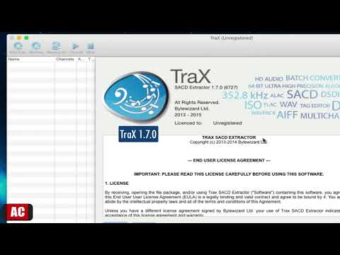 Convert SACD-ISO to  DSF,  DFF file on Mac-TraX - YouTube