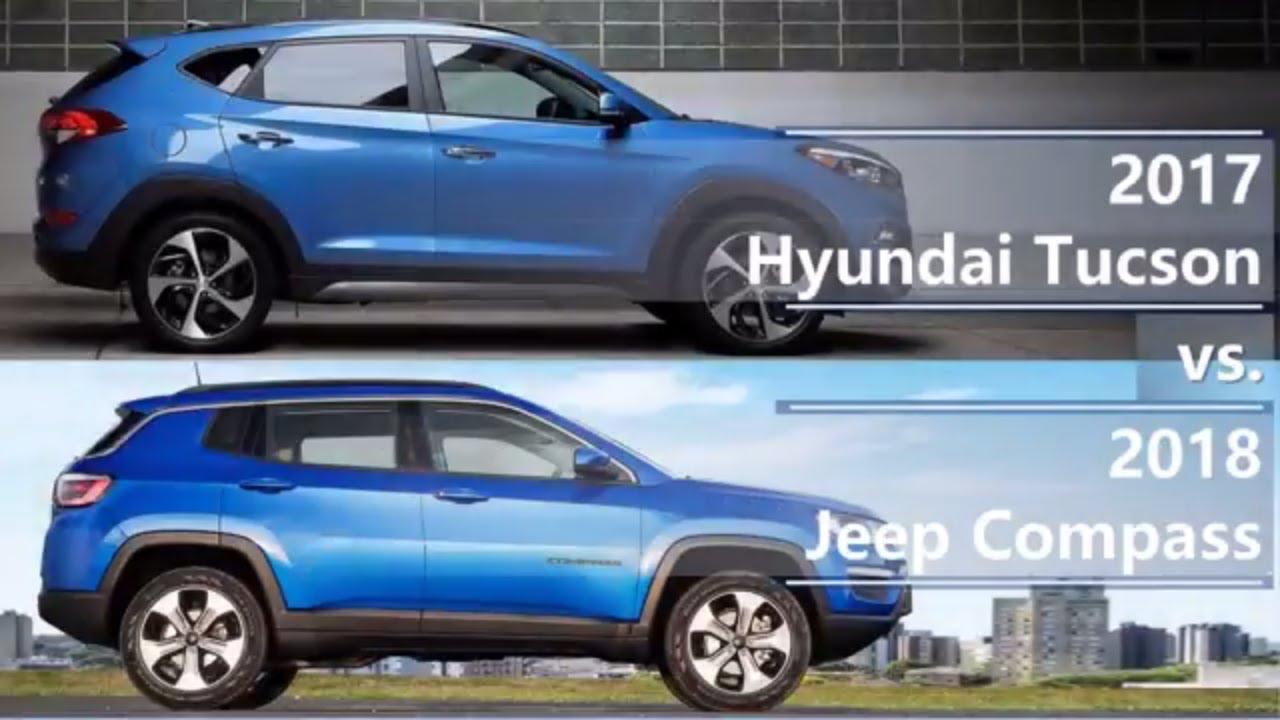 2017 Hyundai Tucson Vs 2018 Jeep Comp Technical Comparison
