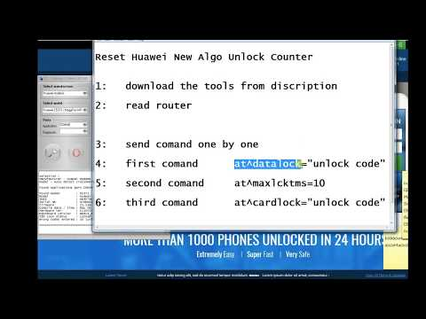 Reset Unlock Code Counter Huawei Routers 2017 (new algo