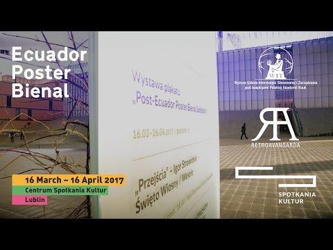 Wystawa plakatu Post-Ecuador Poster Bienal Exhibition