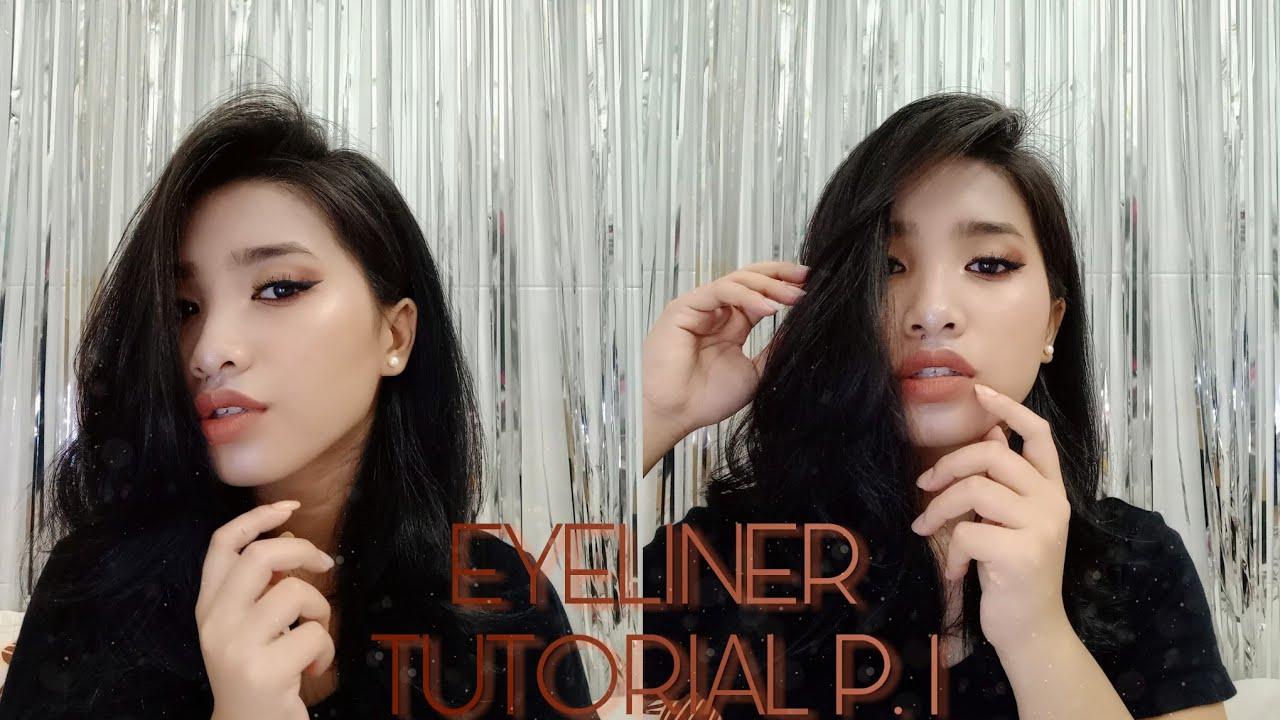 EYELINER TUTORIAL P. 1 ♡ / CÁCH VẼ EYELINER ĐƠN GIẢN Phần.1   jemmin   ♥
