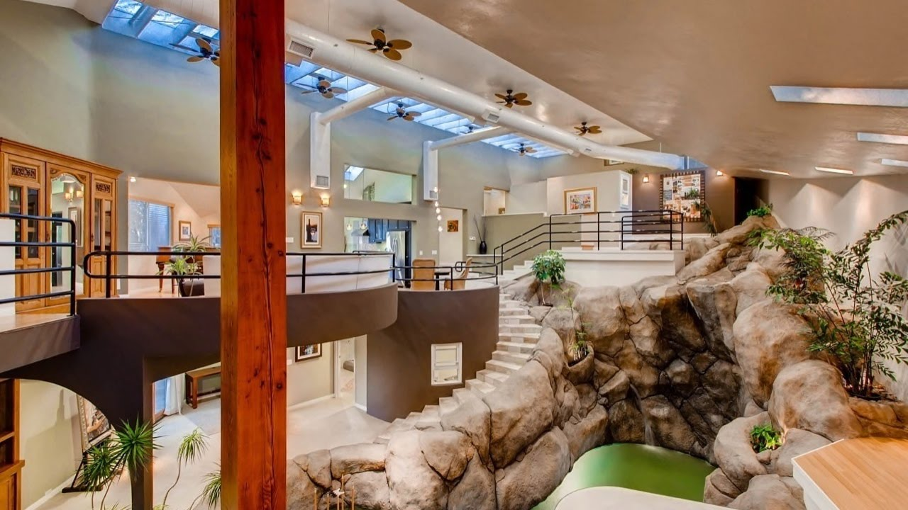 Amazing Architectural Wonder With Indoor Waterfall 1876 Sefton Place San Go Ca 92107