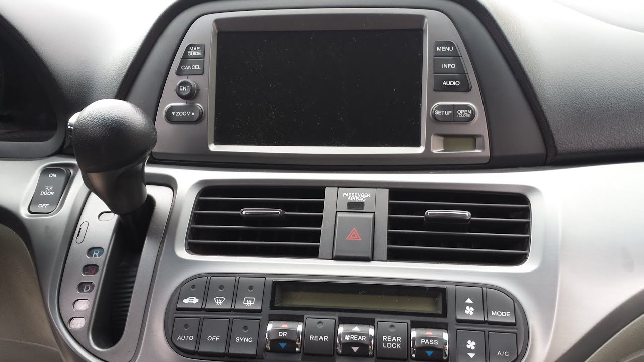 Honda Odyssey Black Navigation Screen Youtube