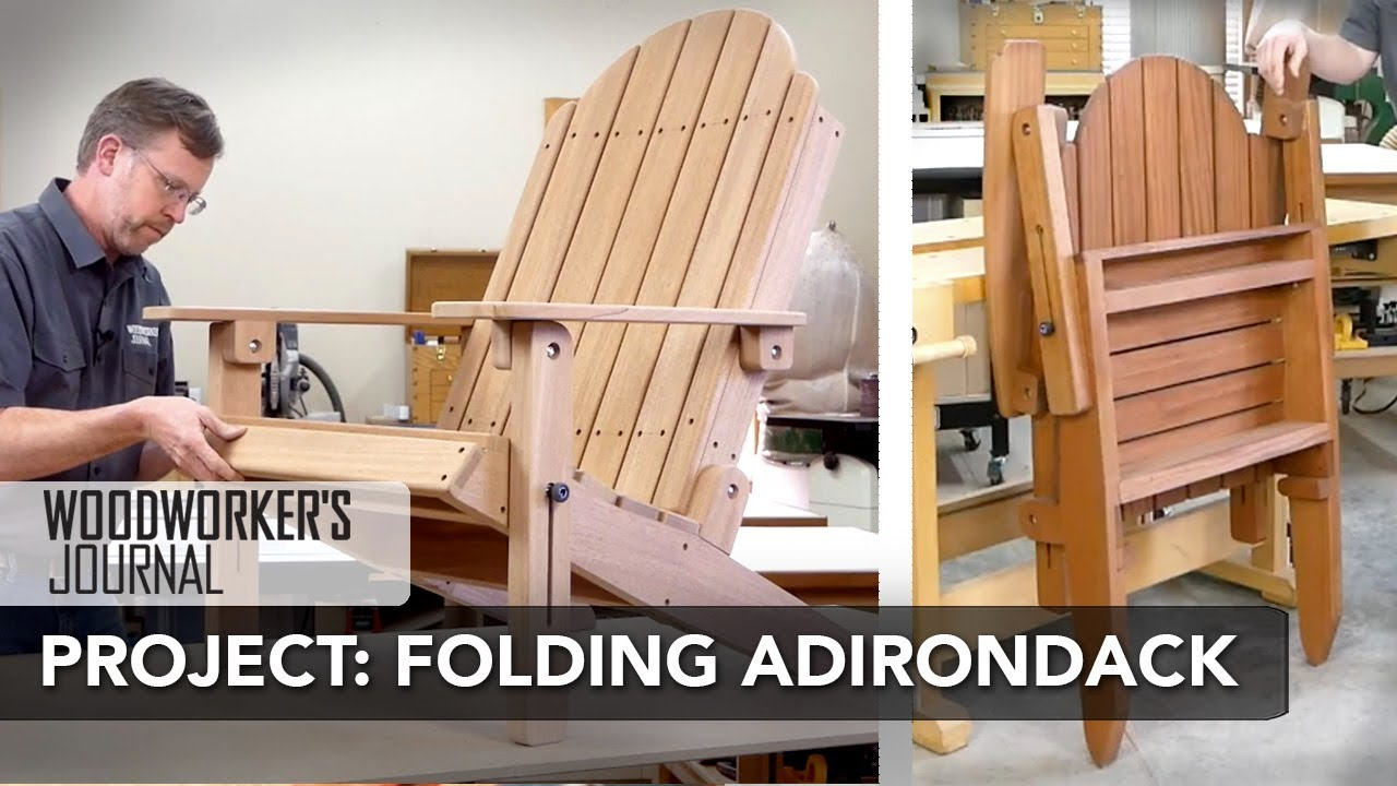 Building A Folding Adirondack Chair Complete Project Build