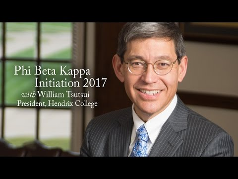 Phi Beta Kappa Convocation 2017 with William Tsutsui