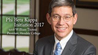 phi beta kappa convocation 2017 with william tsutsui
