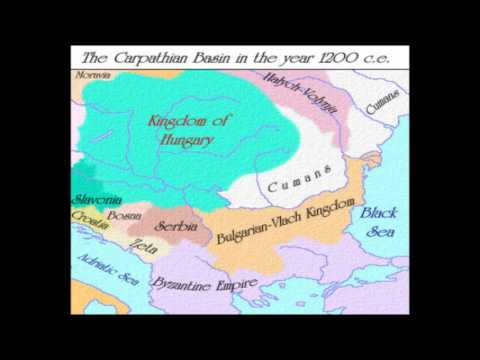 The Carpathian Basin since the fall of the Roman Empire until the Treaty of Trianon (1920)
