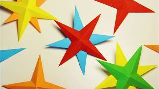 3D Paper Star   DIY Paper Craft Ideas for Christmas Decoration
