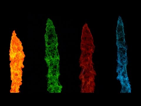 Slow Mo Rainbow Flame - 4K - The Slow Mo Guys