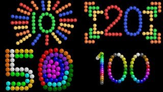 Color Ball Counting Collection - Count to 10, 20, 50 & 100 - The Kids' Picture Show (Learning Video)
