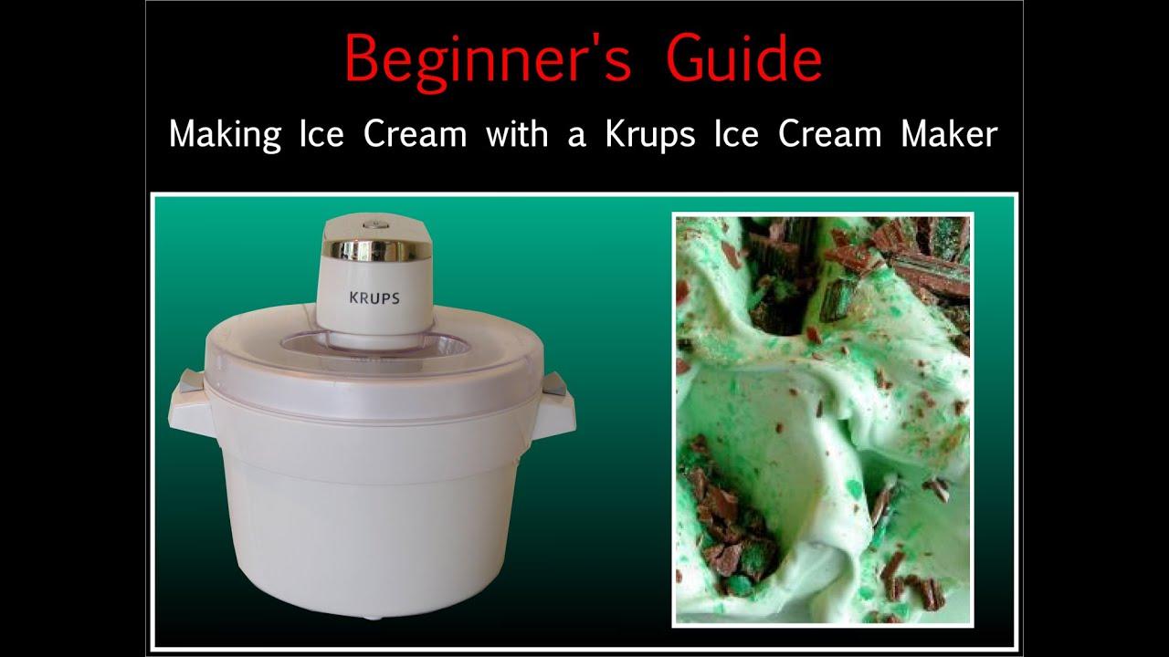 Folkekære Krups Ice Cream Maker Beginners Guide - How to make Ice Cream UQ-26
