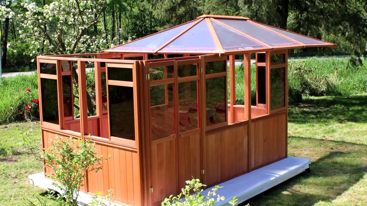 Westview Solarus Spa Gazebo Hot Tub Enclosure - YouTube