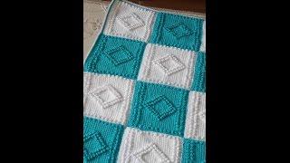 Tunus işi bebek battaniyesi yapımı