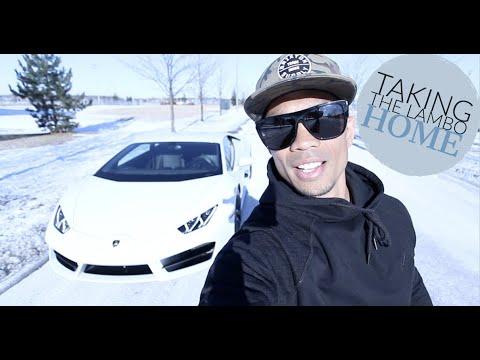 Taking Delivery   Lamborghini Huracan   Exhaust Revs   Canadian Winter
