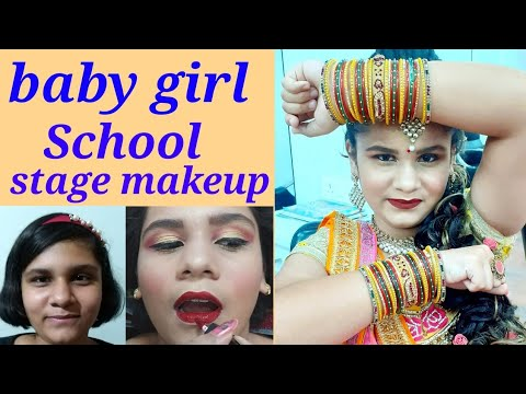 baby-girl-school-stage-makeup//-step-by-step-easy-and-simple-method//-from-khushi-makeovers🤗👍
