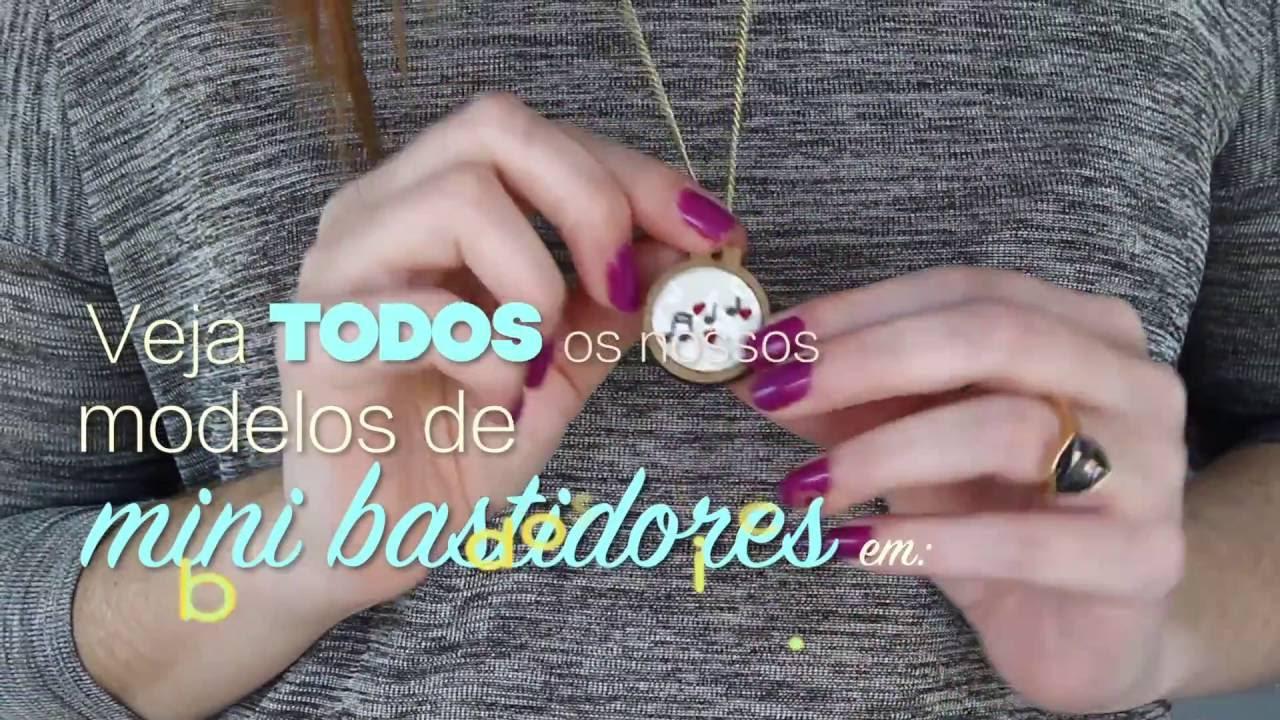 Bordado Studio - Colar bordado mini bastidor - YouTube