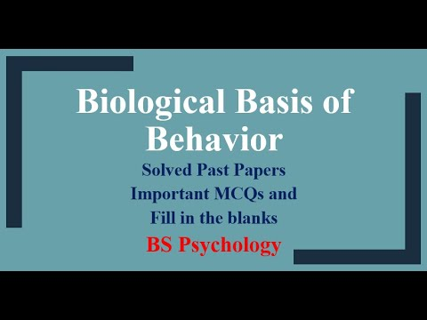 Past papers of biological basis of behavior BS psychology | Iqra Sageer