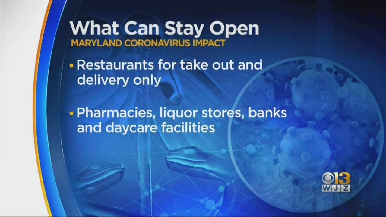 What's open and closed during Maryland's nonessential business ...