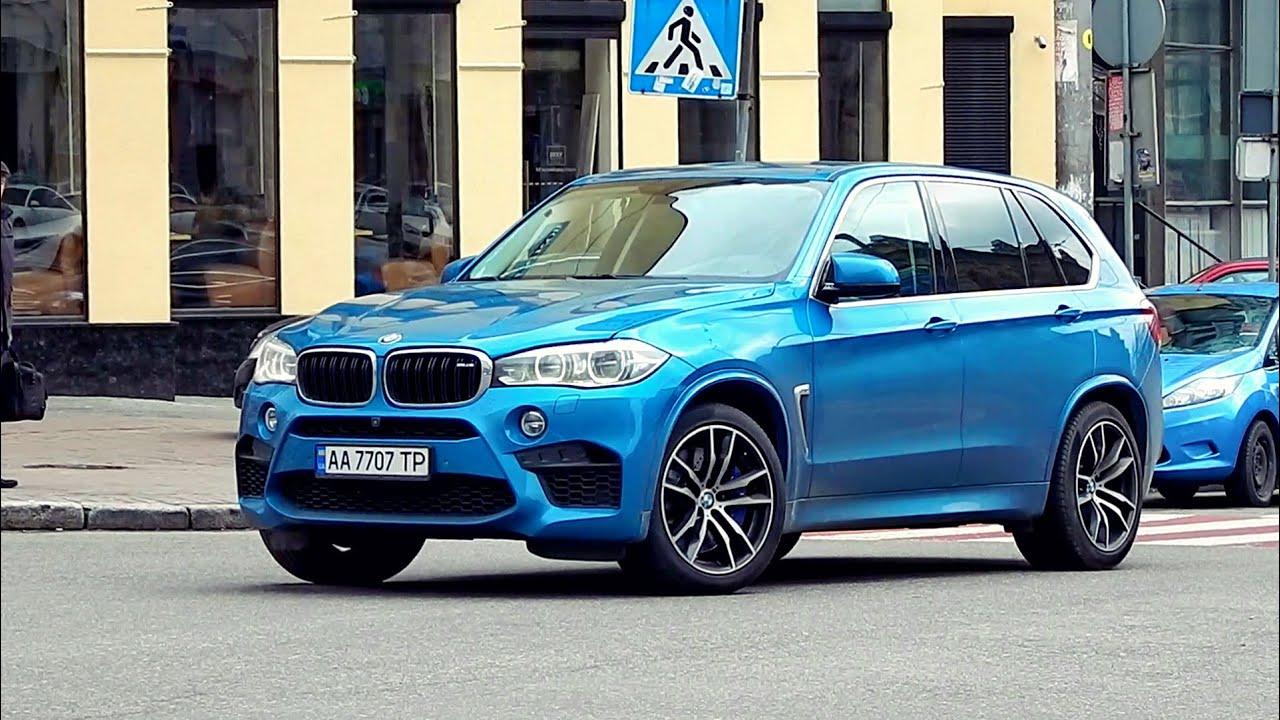 BMW X5 M F85 in Kiev, Ukraine + Acceleration sound ...