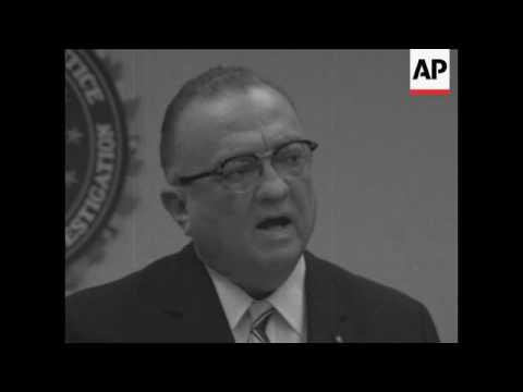 FBI director J Edgar Hoover says FBI won't protect civil rights workers