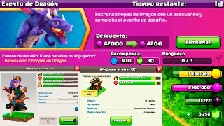 CLASH OF CLANS EVENTO DRAGON, REINA AL 21 Y TORRE ARQUERA!!!