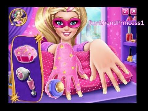 barbie nail games - design