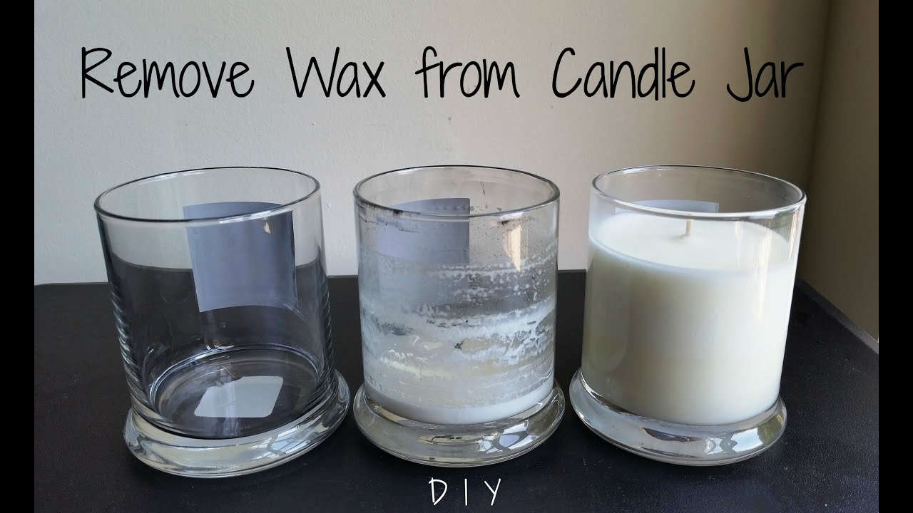 How to Remove Wax from a Candle Jar   3 Ways   YouTube