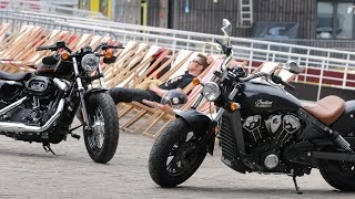 Harley-Davidson Forty Eight vs Indian Scout : Duel made in USA !