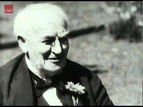 Thomas Edison interviewed at the age of 84