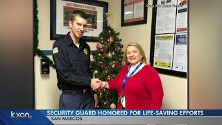 Cadet honored for helping save San Marcos man who was stabbed