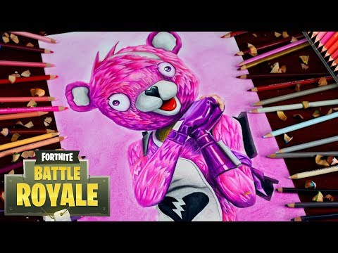 Drawing Fortnite Battle Royale - Cuddle Team Leader - | Loving Pink Teddy Bear #YTBattleRoyale