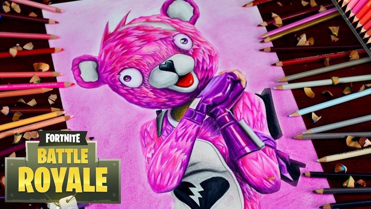 Drawing fortnite battle royale cuddle team leader loving pink teddy bear ytbattleroyale - Cuddle team leader from fortnite ...