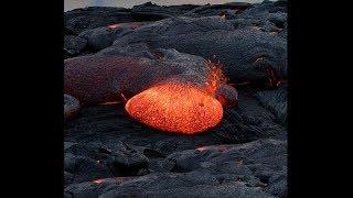 riesige lava blase platzt (sehr gefährlich)