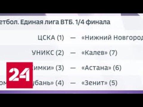 Матчем в Казани стартует плей-офф Единой баскетбольной лиги ВТБ - Россия 24