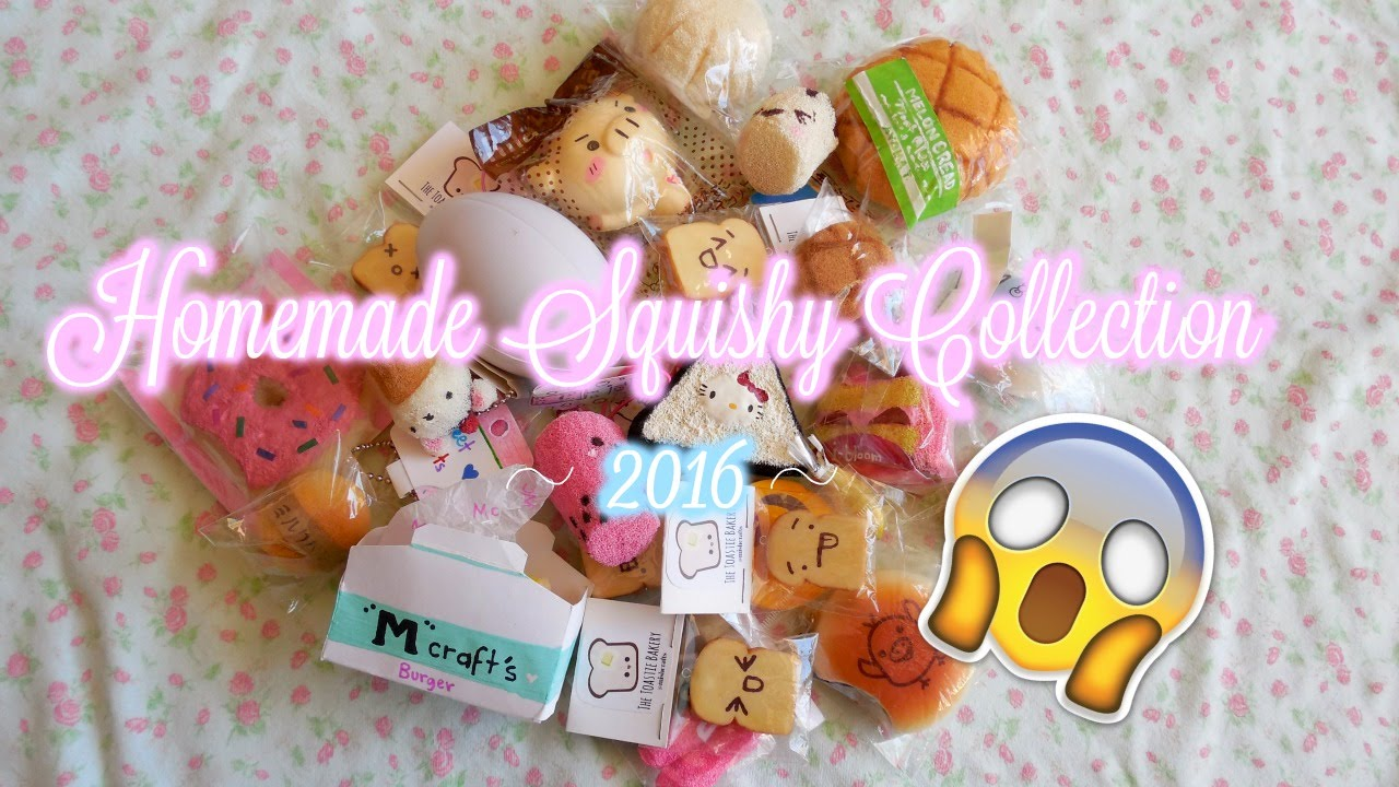 Squishy Collection 2016 : Homemade Squishy/ Squishy Collection of 2016! - YouTube