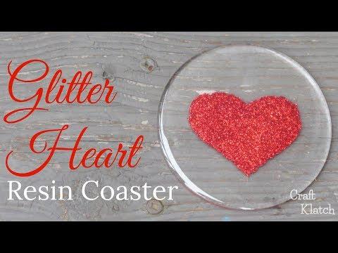 Glitter Heart Resin Coaster   Another Coaster Friday   Craft Klatch