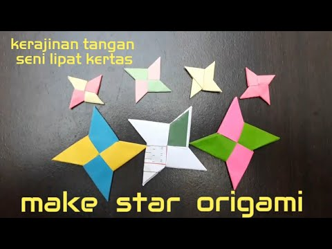 make star origami   star origami #2   Simple easy origami   origami mudah simpel - origami bintang