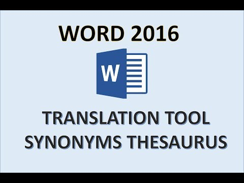 Word 2016 - Use Reference & Research Tools