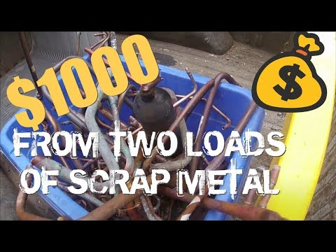 Two loads of scrap metal = $1000!! PLUS our FLEA MARKET sell