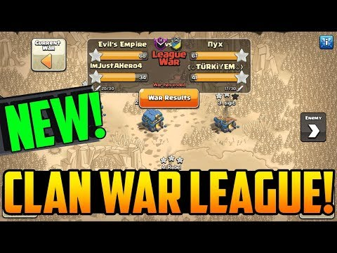 CLAN WAR LEAGUES! Clash of Clans Next Update TEASED!