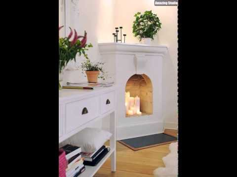 DIY Candle Fireplace Ideas