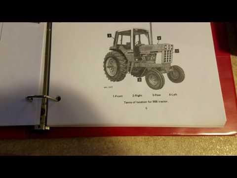 IH 86 series service manual and Operators manual