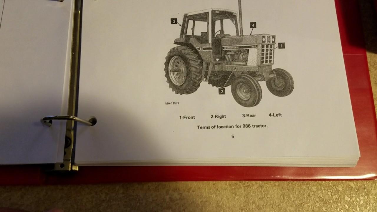 ih 86 series service manual and operators manual [ 1280 x 720 Pixel ]